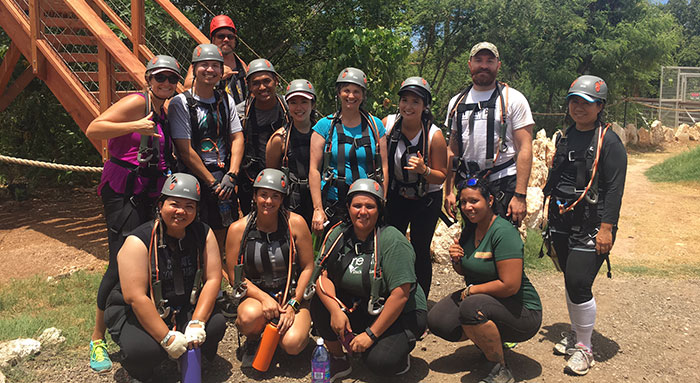 TLC teachers at the Coral Crater Adventure Tower