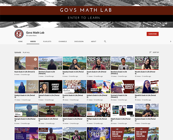 Govs Math Lab YouTube channel