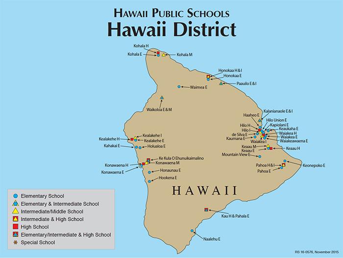 Hawaii DOE | Hawaii Island Map