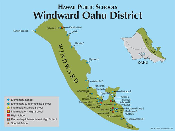 Hawaii Doe Oahu Map