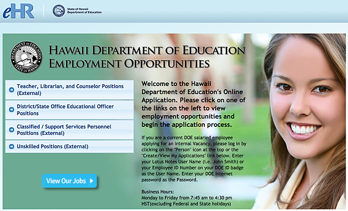 Hawaii Teaching Jobs