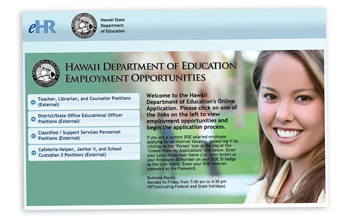 hawaii doe job opportunities