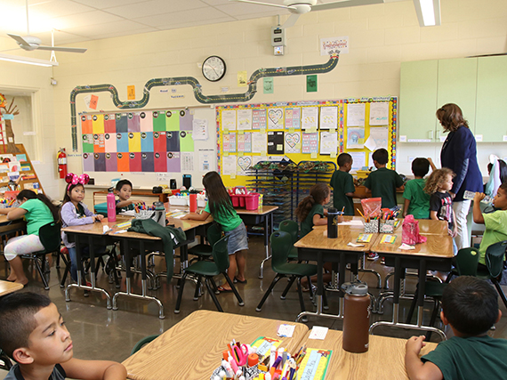 Images Of Elementary Classrooms ~ Hawaii doe ewa elementary dedicates new building adding