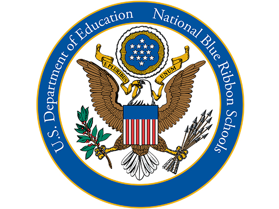 Photo of USDOE National Blue Ribbon Schools seal.