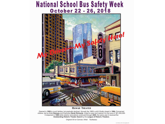 2018 National School Bus Safety Week - Hawaii poster