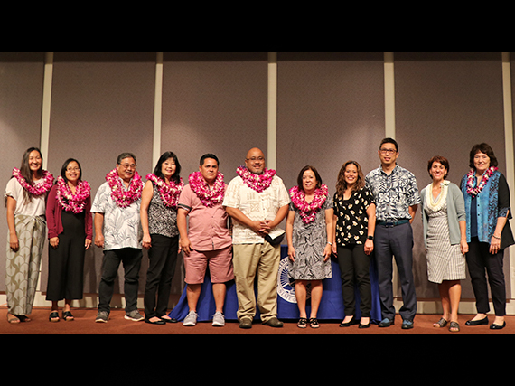 Photo of The Na Hopena A'o Kanoelani Team, HIDOE's 2019 Team of the Year.