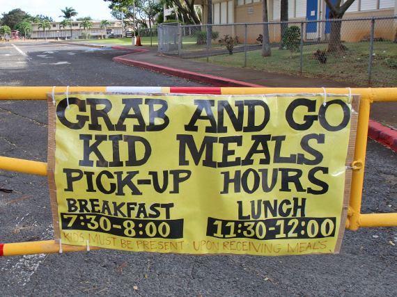 Photo of Grab-and-Go school lunch hours