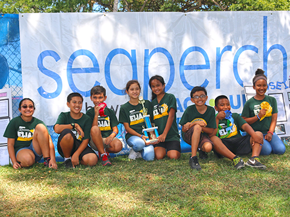 Ewa Elementary's winning Team Poseidon and Team Aquajets.