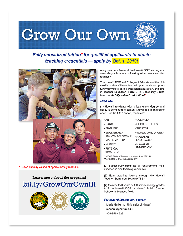 Hawaii DOE | Grow Our Own