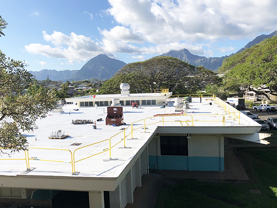 Work nears completion on King Intermediate's cafeteria roof